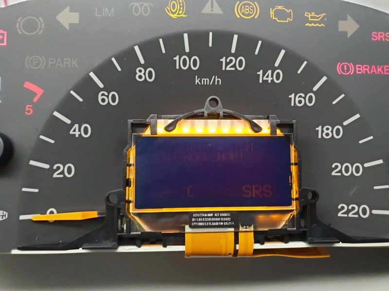 Mercedes Benz Vito instrument cluster repair
